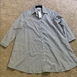 New t shirt button down. Oversized.